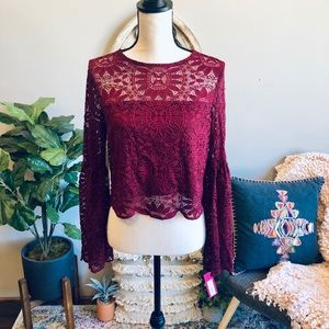 Xhilaration Lace Crop Top💋 Brand New W/ Tags!